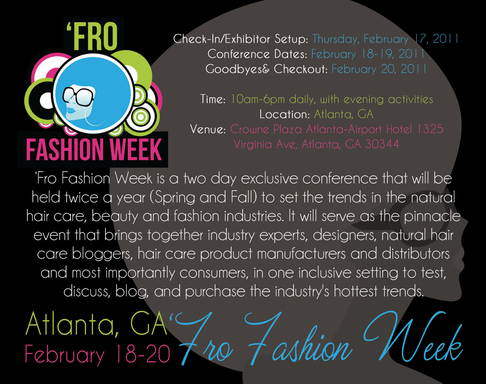 Fro fashion week is next month in atlanta check out the new